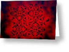 Red Velvet By Madart Greeting Card by Megan Duncanson