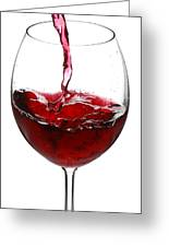Red Wine Greeting Card by Jaroslaw Grudzinski