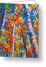 Redemption - Fall Birch And Aspen Greeting Card by Talya Johnson