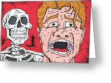 Redhead Is Dead Greeting Card by Anthony Snyder
