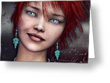 Redhead Greeting Card by Jutta Maria Pusl
