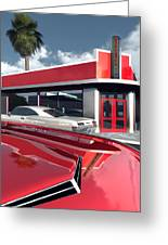 Reds Five And Dime Greeting Card by Richard Rizzo