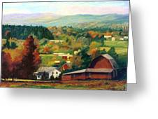 Reeds Farm Ithaca New York Greeting Card by Ethel Vrana