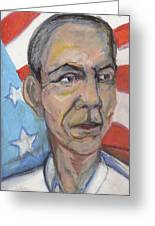 Reelecting Obama In 2012 Greeting Card by Derrick Hayes