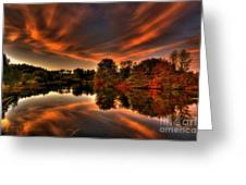 Reflecting Autumn Greeting Card by Kim Shatwell-Irishphotographer