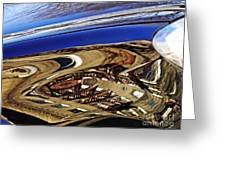 Reflection On A Parked Car 11 Greeting Card by Sarah Loft