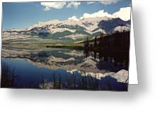 Reflection On Talbot Lake Greeting Card by Shirley Sirois