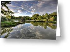Reflection On The Poudre River Greeting Card by Shane Linke