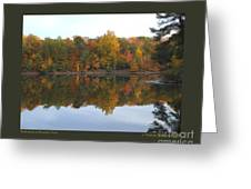 Reflections At Boughton Park Greeting Card by Patricia Overmoyer