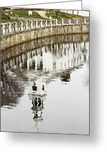 Reflections Of Church Greeting Card by Karol  Livote
