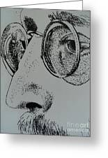 Reflections Of Peace John Lennon Greeting Card by Carla Carson