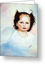 Regal Angel Greeting Card by Joni McPherson