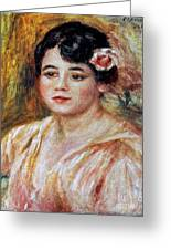 Renoir: Adele Besson, 1918 Greeting Card by Granger
