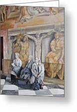 Reposo En El Vaticano Greeting Card by Tomas Castano
