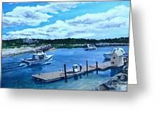 Returning To Sesuit Harbor Greeting Card by Jack Skinner