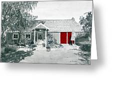 Retzlaff Winery With Red Door No. 2 Greeting Card by Mike Robles