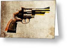 Revolver Greeting Card by Michael Tompsett