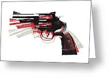 Revolver on White - left facing Greeting Card by Michael Tompsett