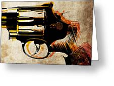 Revolver Trigger Greeting Card by Michael Tompsett