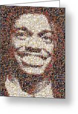 Rg3 Redskins History Mosaic Greeting Card by Paul Van Scott