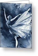 Rhapsody In Blue Greeting Card by L Lauter