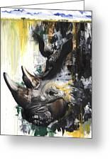 Rhino II Greeting Card by Anthony Burks Sr