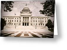 Rhode Island State House Greeting Card by Lourry Legarde