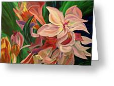 Rhododendron Greeting Card by Donna Drake