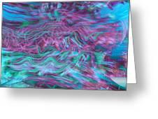 Rhythmic Waves Greeting Card by Linda Sannuti