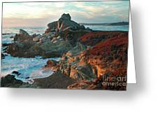 Ribera Beach Sunset Carmel California Greeting Card by Charlene Mitchell