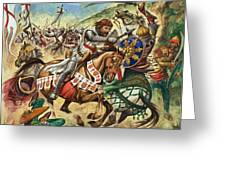 Richard the Lionheart during the Crusades Greeting Card by Peter Jackson