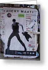 Ricky Martin In Concert Greeting Card by Anna Villarreal Garbis