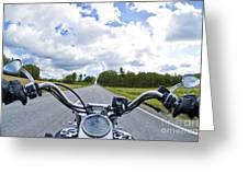 Riders Eye View Greeting Card by Micah May