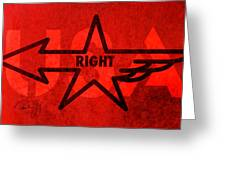 Right Wing Greeting Card by Paul Gaj