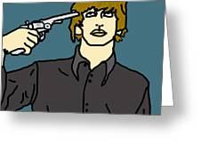 Ringo Starr Greeting Card by Jera Sky
