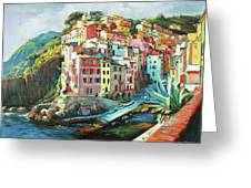 Riomaggiore Italy Greeting Card by Conor McGuire