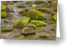 River Stones Greeting Card by Paul Bartoszek