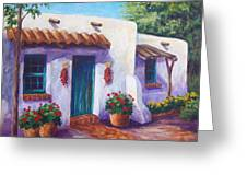 Riverbend Adobe Greeting Card by Candy Mayer