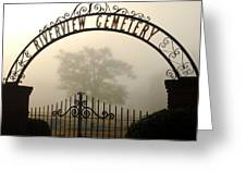 Riverview Cemetery II Greeting Card by Wayne Archer