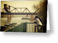 Riverwalk Greeting Card by Patrick Biestman