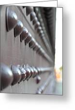 Rivets Greeting Card by Diane  Greco-Lesser