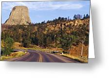 Road To Devils Tower Crossing Belle Fourche River Greeting Card by Jeremy Woodhouse