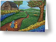 Road To Maple Greeting Card by Anne Klar