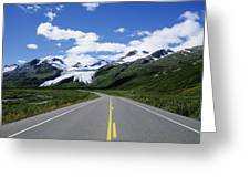 Road To Worthington Glacier Greeting Card by Bill Bachmann - Printscapes