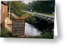 Roadside Fishing Spot Greeting Card by Doug Strickland