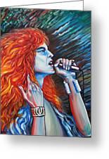 Robert Plant  Greeting Card by Yelena Rubin