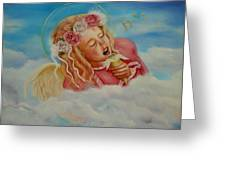 Rock And Roll Angel Greeting Card by Joni McPherson