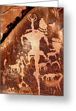 Rock Art Of The Ancients Greeting Card by The Forests Edge Photography - Diane Sandoval