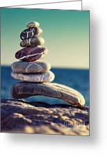 Rock Energy Greeting Card by Stelios Kleanthous