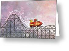 Rocket Me Rollercoaster Greeting Card by Dennis Wunsch